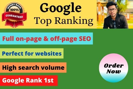 I can rank your website google 1st using white hat trusted SEO backlinks