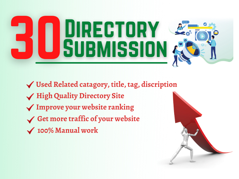 Provide 30 Directory Submission on High Authority Site for Google Ranking