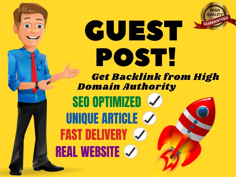I will write and publish premium quality guest post on high authority sites
