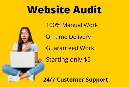 I provide expert SEO Audit for any website