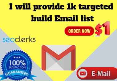 I will provide 1k targeted build email list