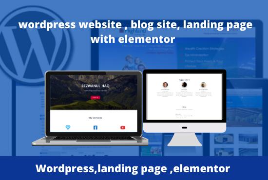 Create a wordpress website or wordpress website design