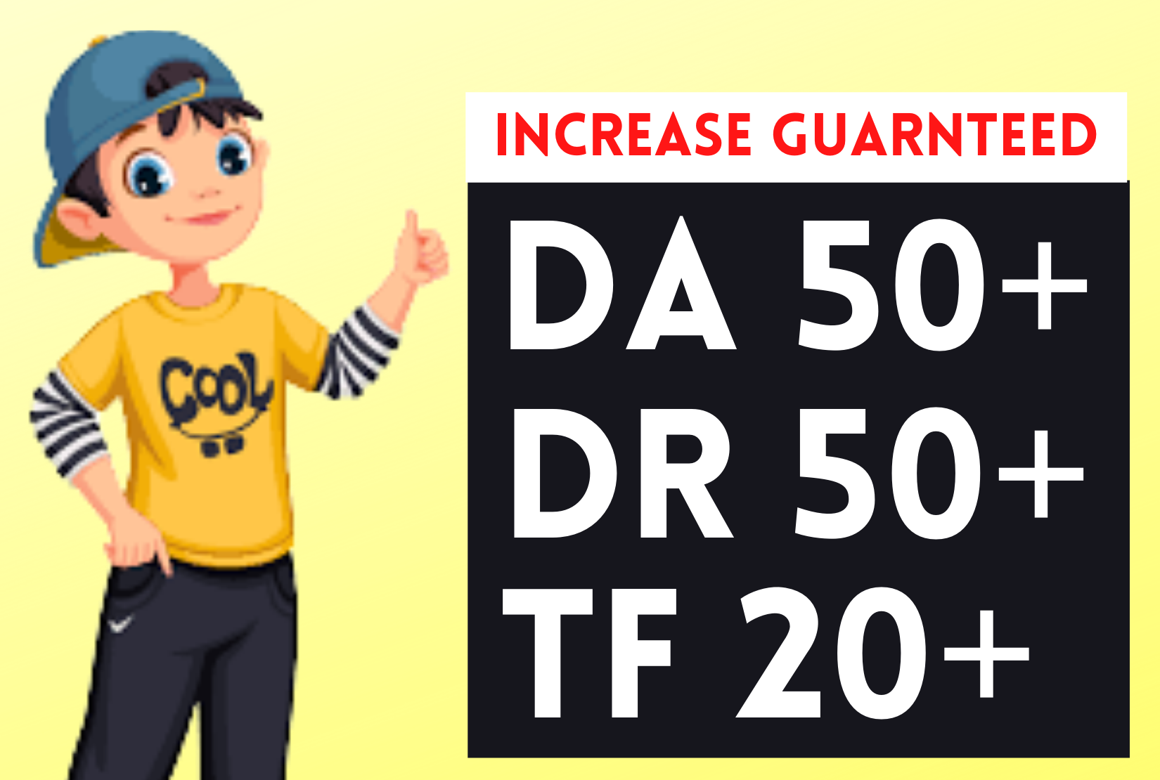 I will icrease domain rating ahrefs dr 40 moz da 35+