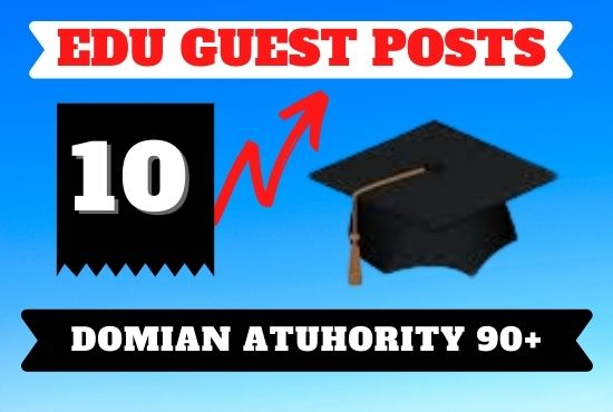 I will offer publish edu guest posts on high da sites