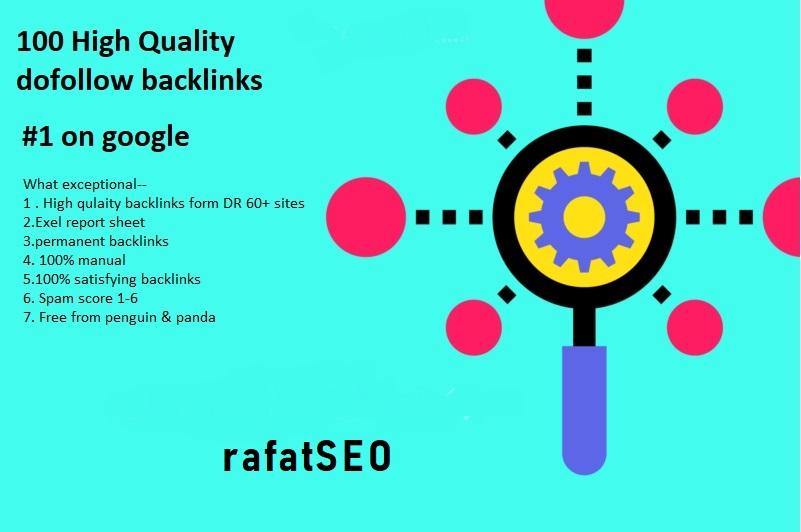 I will do 100 high authority seo backlinks