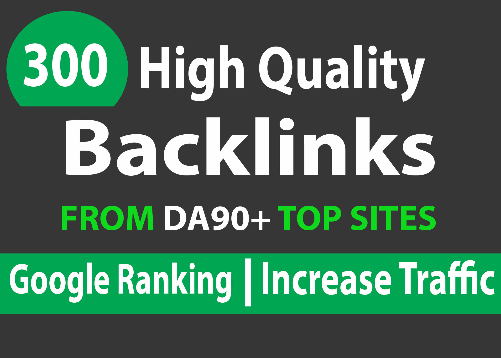 I will provide 300 high da backlinks link building
