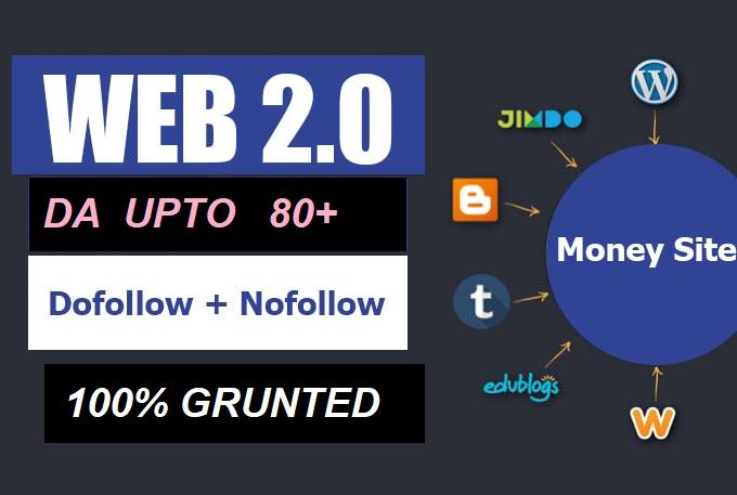 I will make 20 high authority web 2.0 backlinks