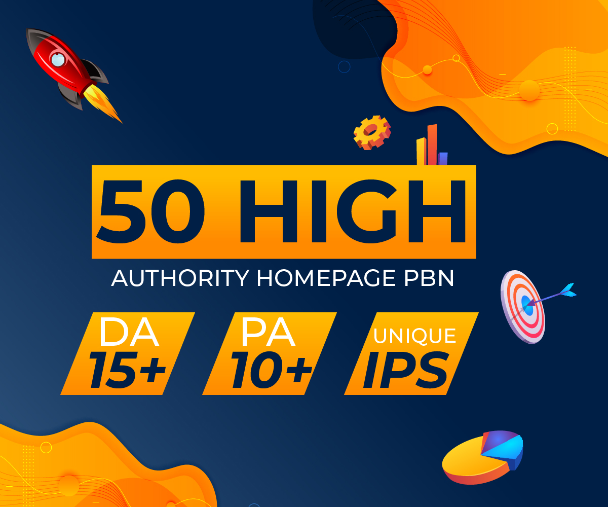 Build 50 High Authority Homepage PBN for your site to boost your rankings in Google