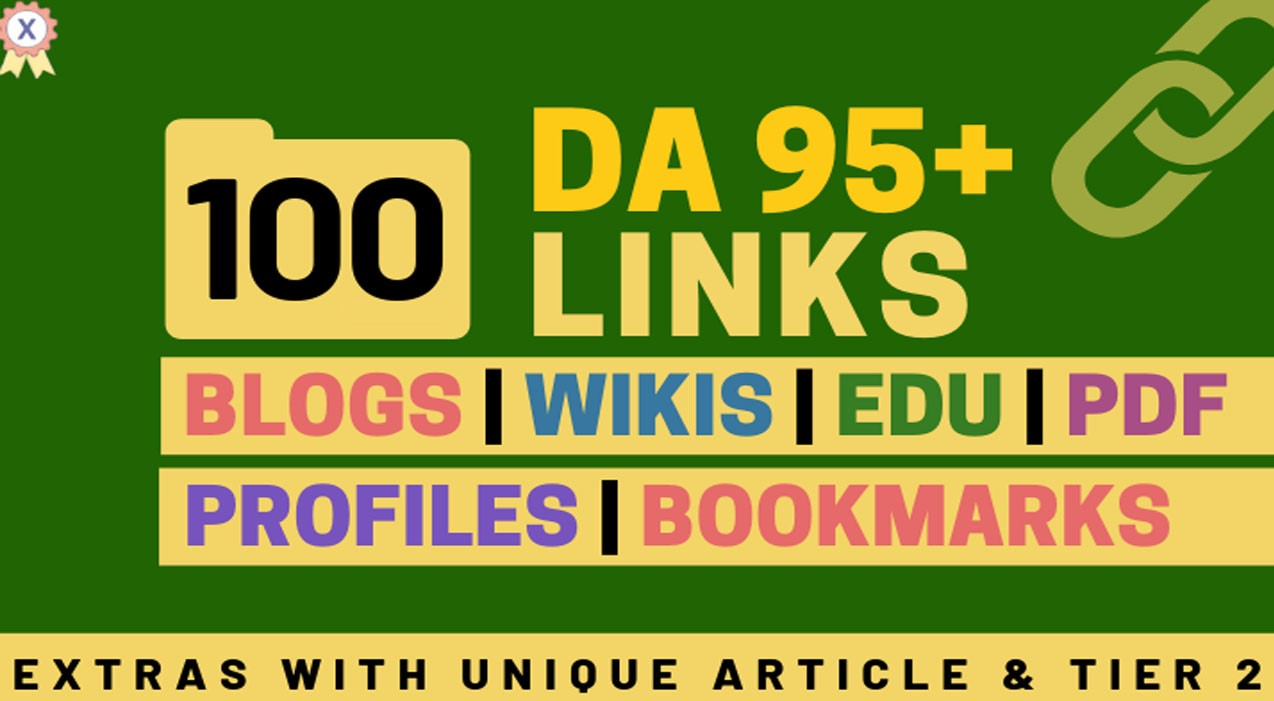 100+High DA 95+ HQ Links to RANK your website by boosting your web authority