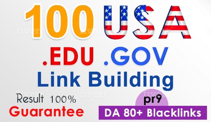 I will manually give you most effective 100 USA Edu & Gov high DA backlink service