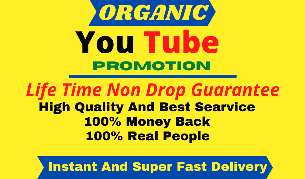 You-Tube Video and Account Promotion Visitor Real WorldWide user