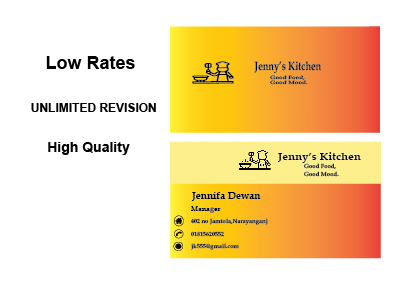 I will create a minimalist business card