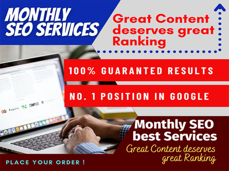 I will able to provide monthly SEO Service with Guaranteed Page 1 Ranking