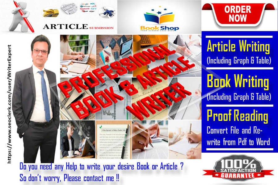 I will write all type of Professional Books - 10 Pages and Articles - 6 Pages