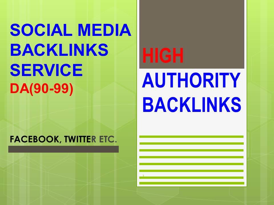 I will Create 20 Social Media Profile Backlinks with high DA 90+ for Google SEO