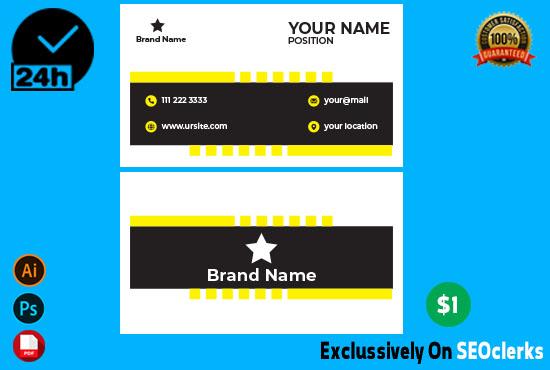 I will design Professional Minimalist Business Card