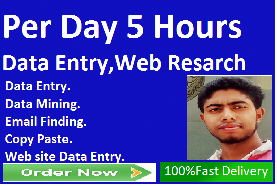 I will do perfectly Data entry, copy paste, lead generation and Web resarch.