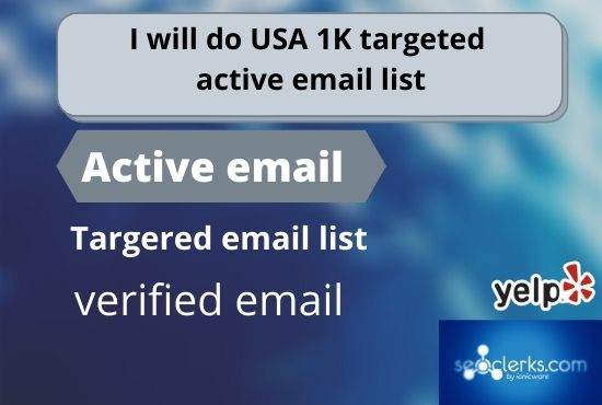 I will do USA 1K targeted active email list