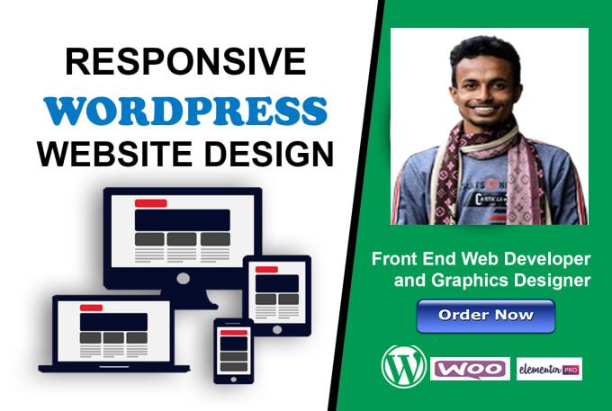 Professional Wordpress customization and website build service