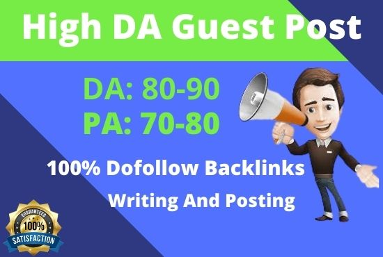 I will publish 6 guest posting with high da 90 googe news approved
