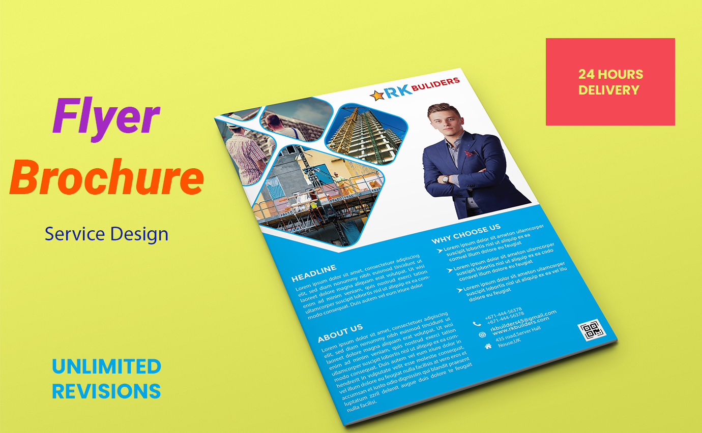 I will create a clean and professional business flyer and brochure design