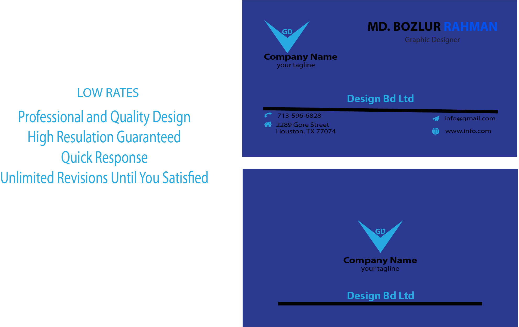 I Will Make Professional Business Card Design of Your Priority