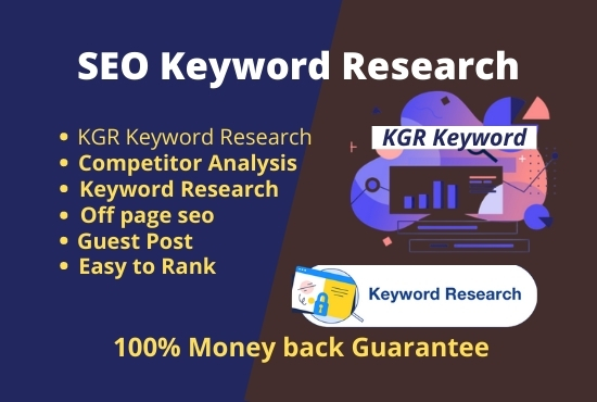 I will provide you keyword research and competitor analysis.