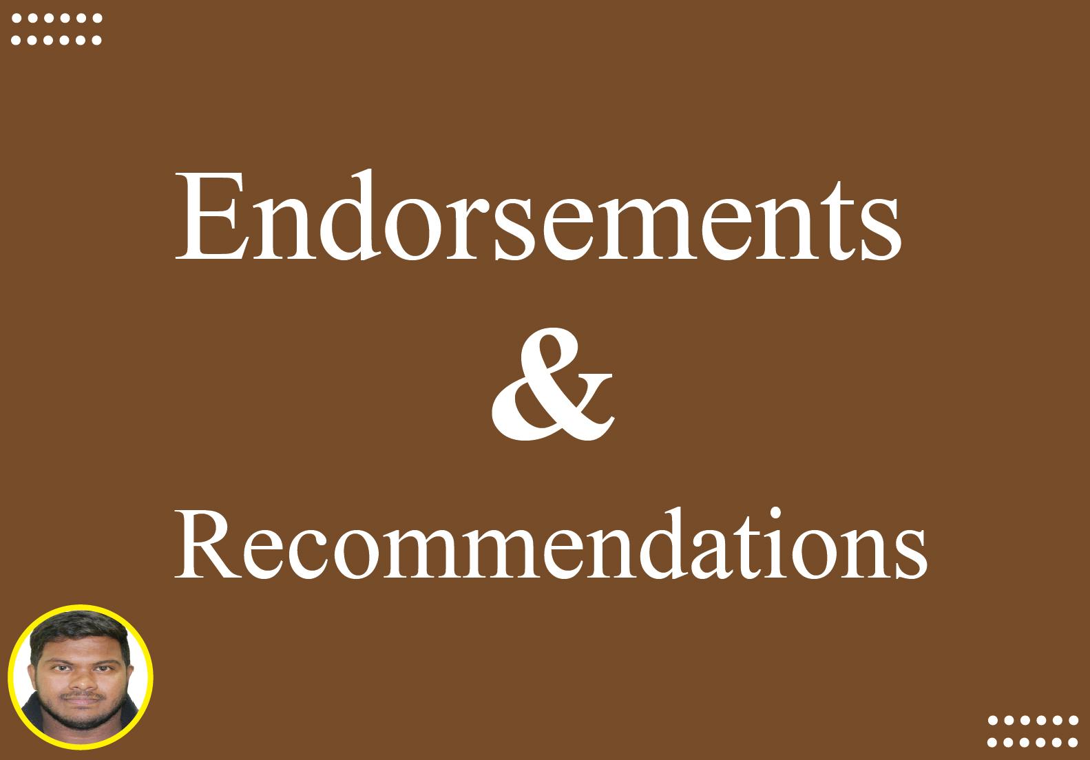 I will Endorse 5 Skills on LinkedIn