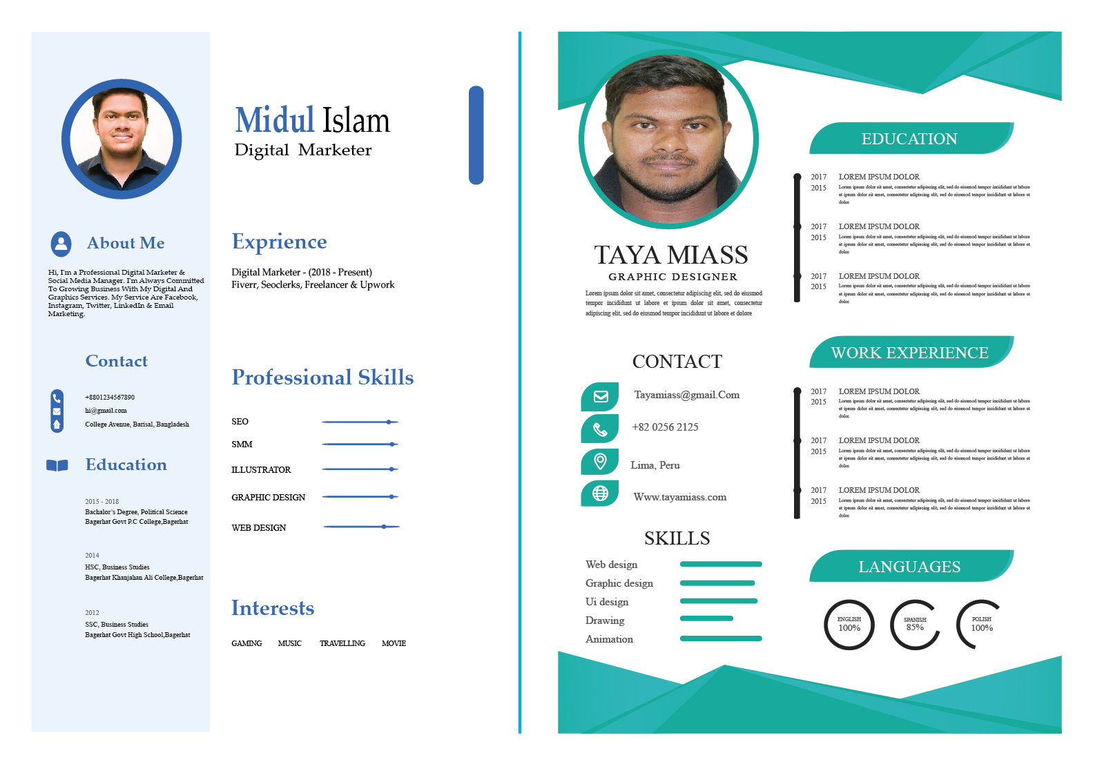 I will write and design a professional resume for you