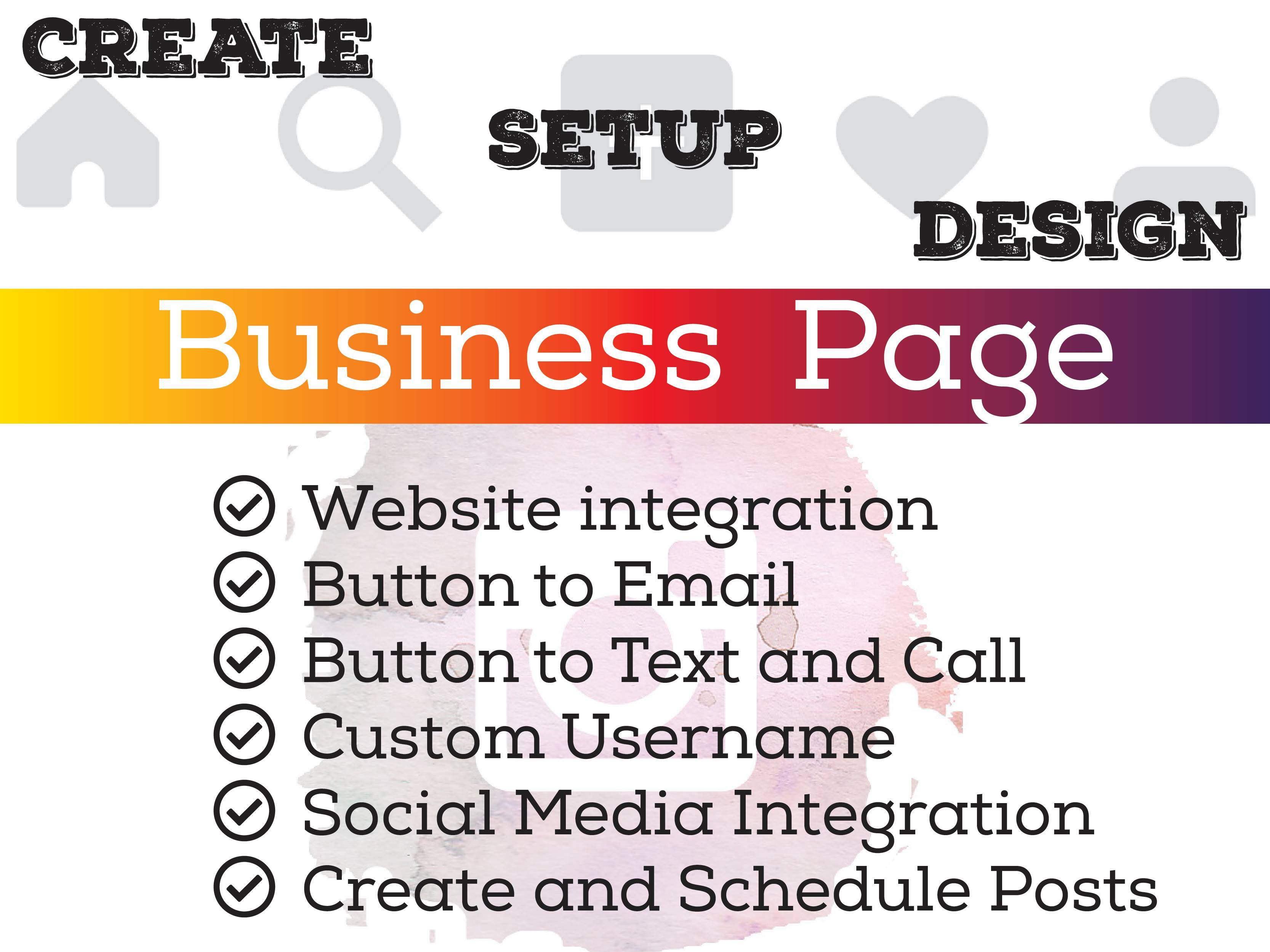 I will Create,  Setup and Design Impressive Instagram Business Page