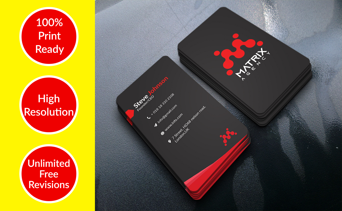 I will design minimalist and professional business card within 12 hours.