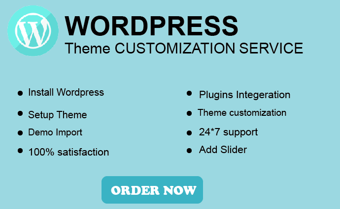 I will install WordPress setup theme and do customize with elementor