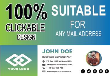 Create Impressive Clickable Email Signature Professionally