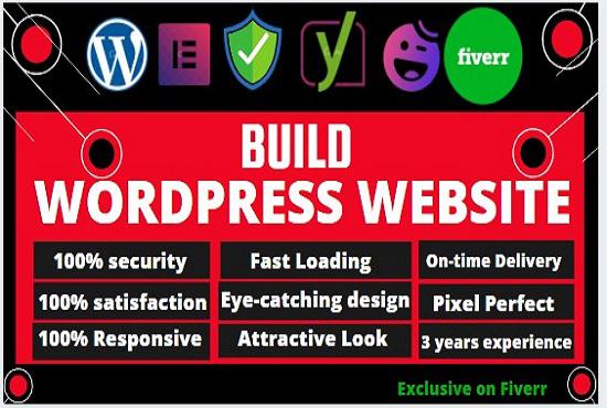 I will build wordpress responsive website