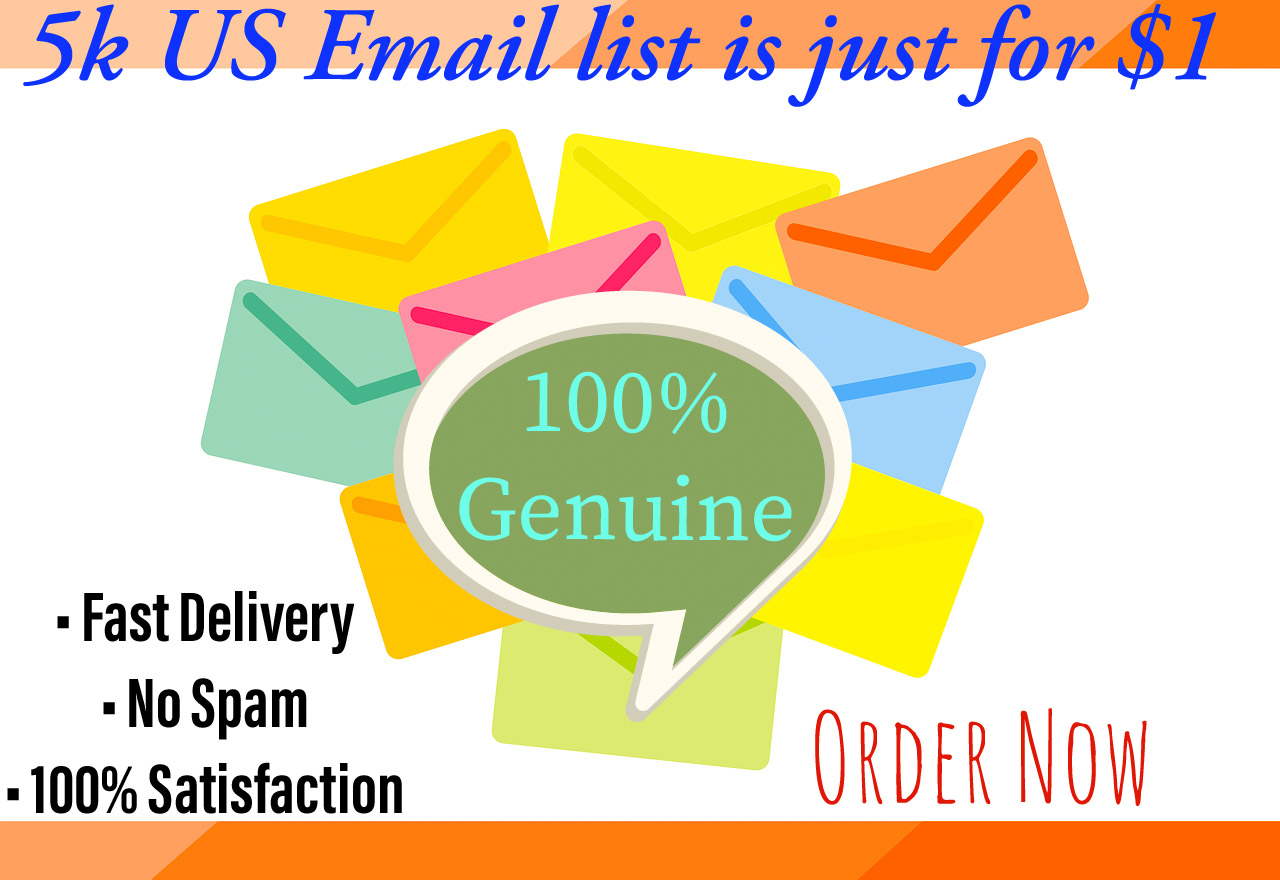 I will provide 5k us email list for your business