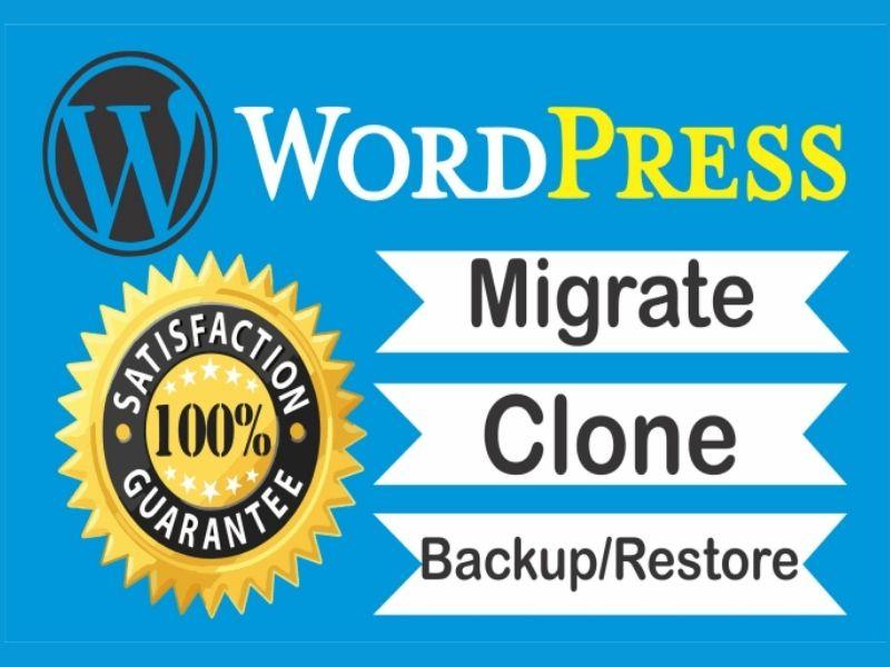 I will migrate,  transfer,  backup,  clone,  WordPress website