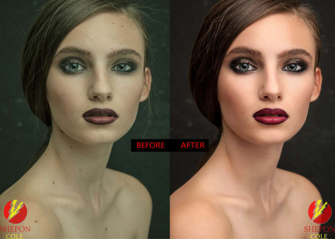 I will do natural looking portrait retouching and photo editing.