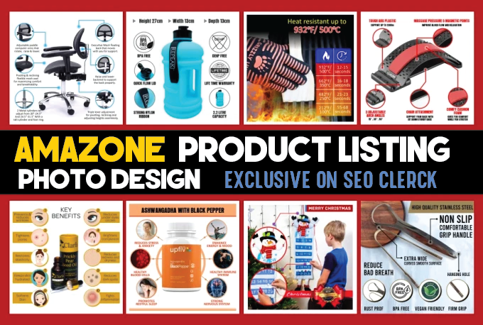 design amazon product listing images,  amazon product infographic,  image editing