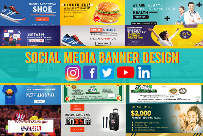I will design website facebook and social media banners ads cover