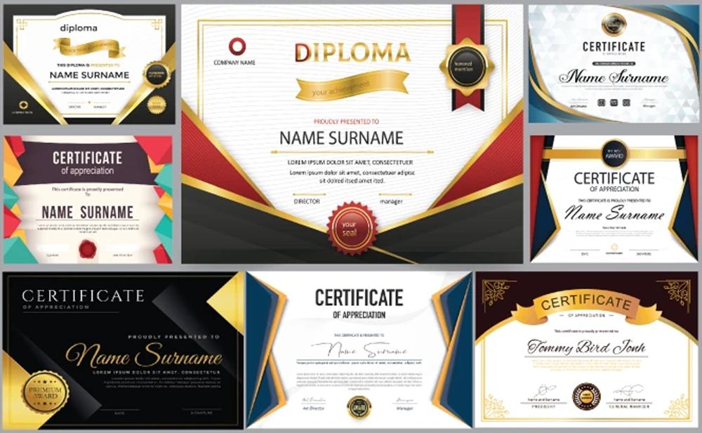 do professional certificate design, award certificate, diploma certificate