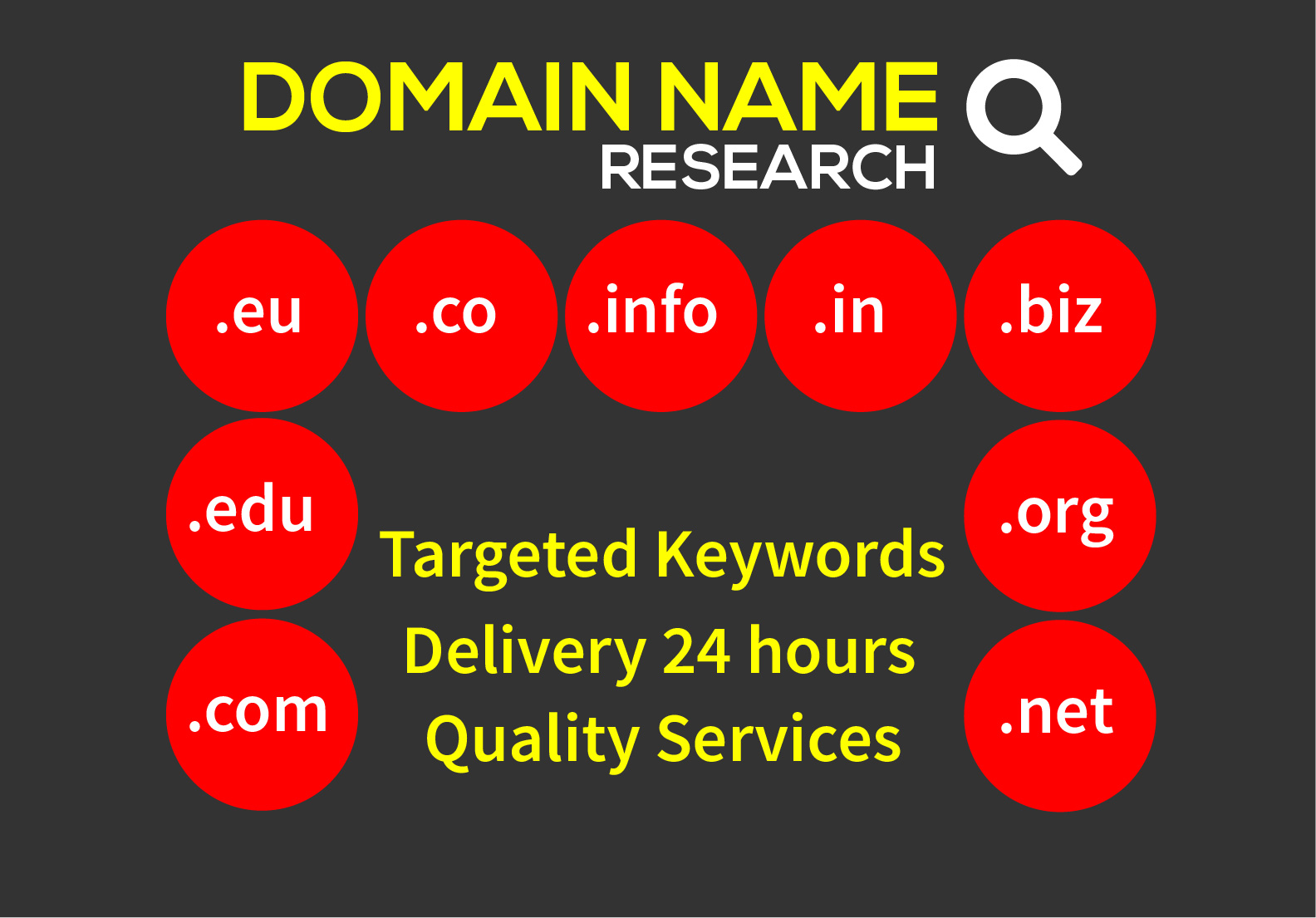 I will research and find Attractive Domain Name for your business or company