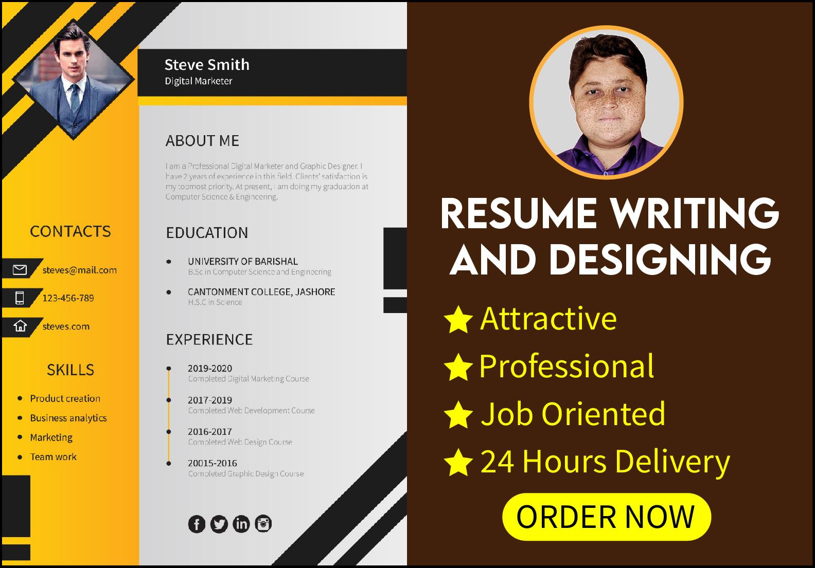 I will design Eye-Catchy and Professional Resume