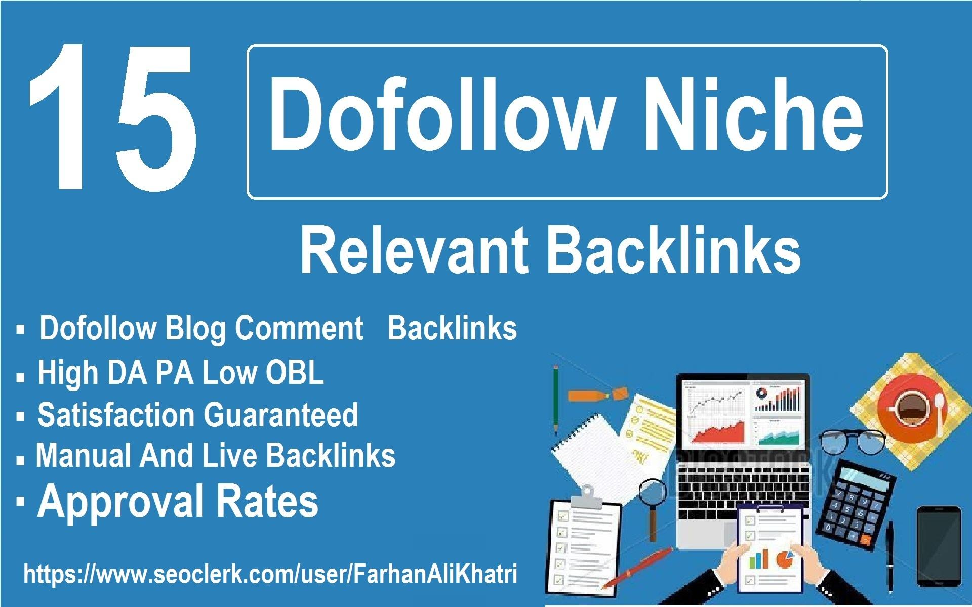 I Will Do 15 Niche Relevant Seo Service Dofollow Backlinks