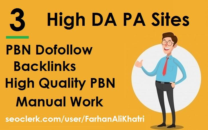 I will build SEO service 3 PBNs dofollow backlinks