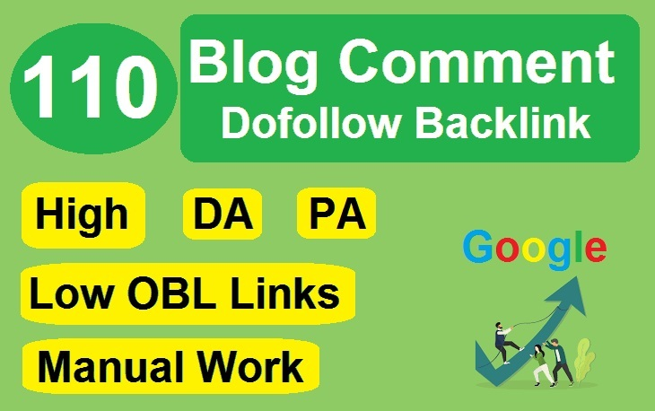 I Will Do 110 Blog Comment Dofollow Backlink Low OBL Links