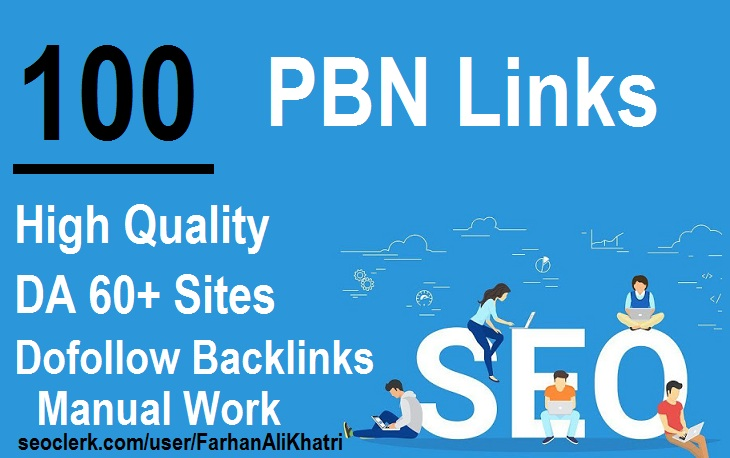 I Will SEO Service Post 100 HomePage PBN Dofollow Backlinks on DA 60plus Sites Rank Your Website
