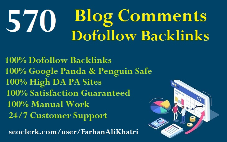 I Will SEO Service Manual 570 Blog Comments Dofollow Backlinks