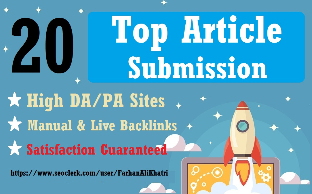 I Will Do 20 Article Submission Seo Service Dofollow Backlinks