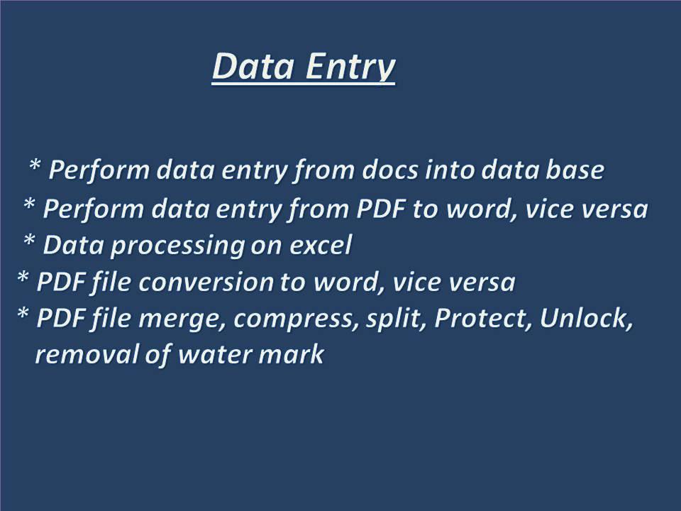 Data Entry & Copy paste specialist