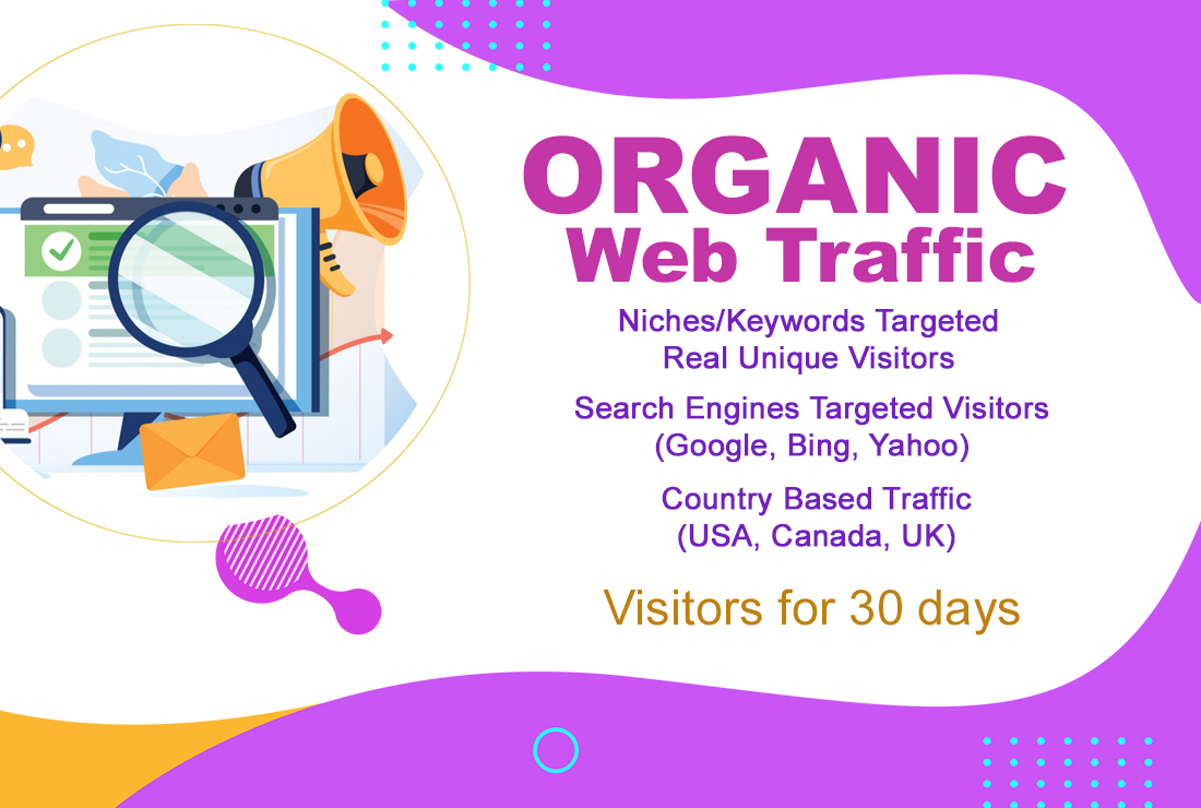 Safe and real organic traffic for 30 days